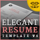 Elegant Resume/CV V1 - GraphicRiver Item for Sale