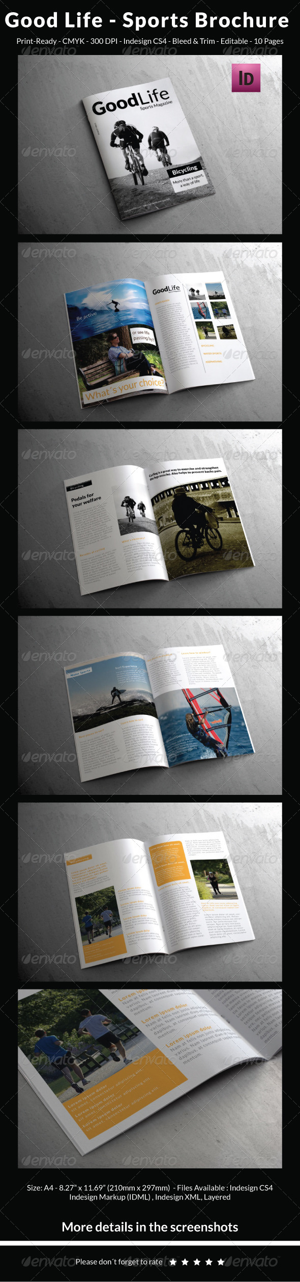 GraphicRiver Good Life Sports Brochure 5298254