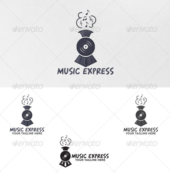 GraphicRiver Music Express Logo Template 5359629