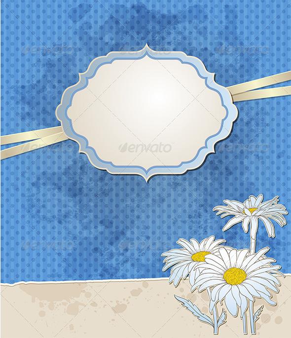 GraphicRiver Vintage Blue Vector Background 5359633
