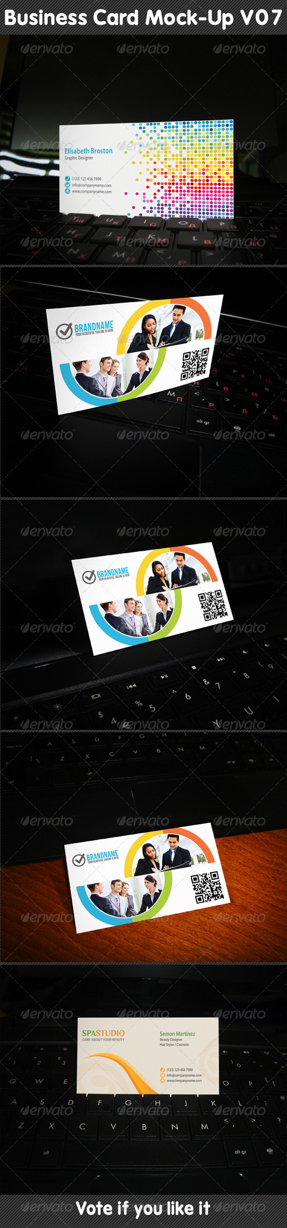 GraphicRiver Business Card Mock-Up V07 5279323