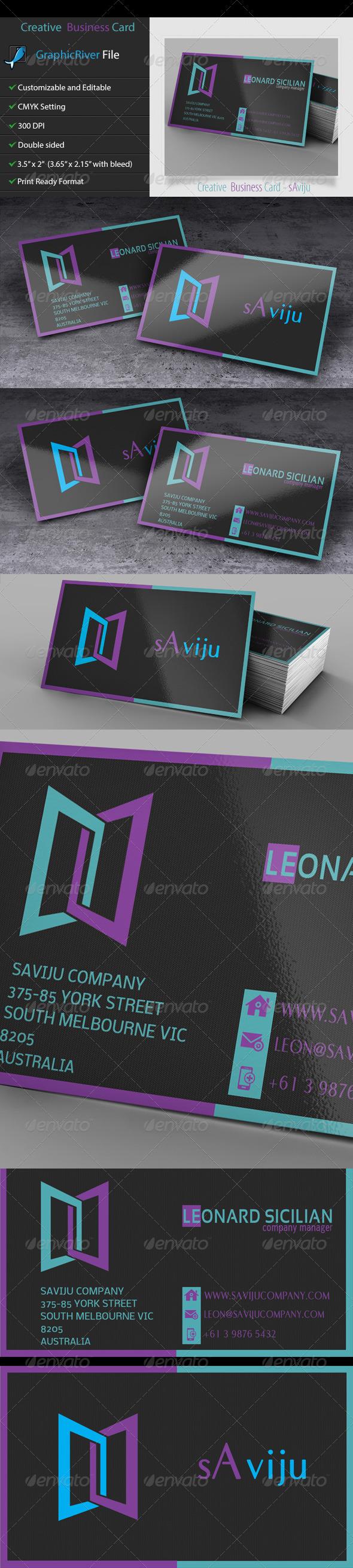 GraphicRiver Creative and Unique Business Card 3 sAviju 5320071