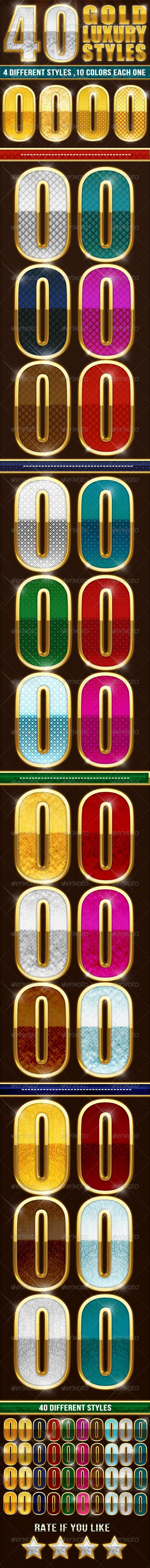GraphicRiver 40 Elegant Gold Luxury Styles 5359915