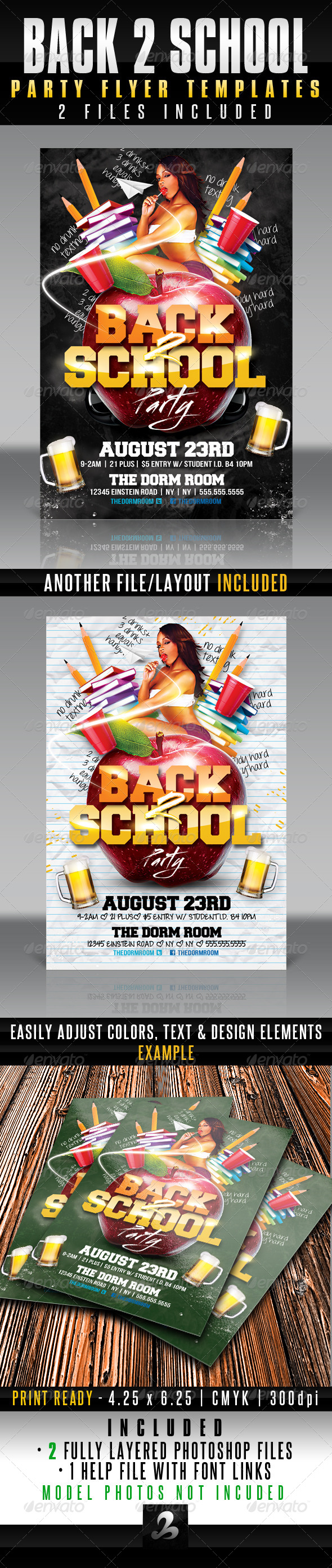 GraphicRiver Back 2 School Party Flyer Template 5311257