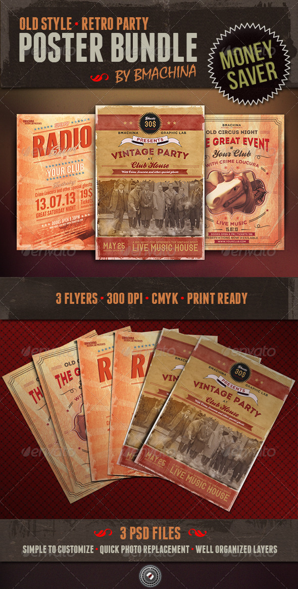 GraphicRiver Old Style Poster Bundle 5360251