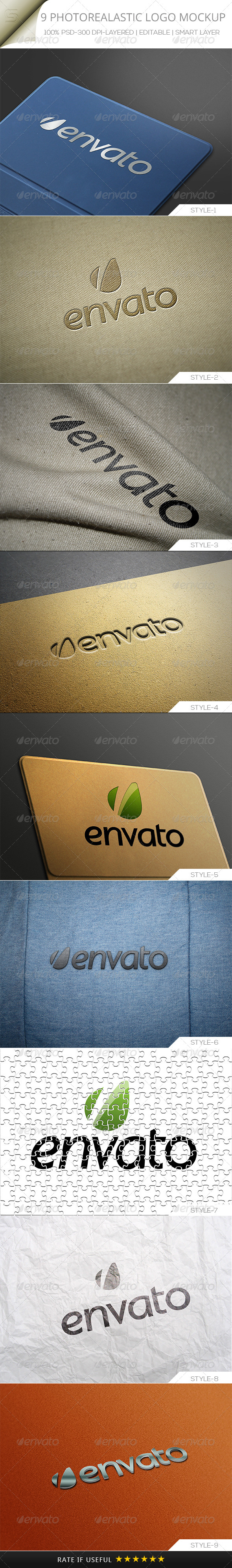 GraphicRiver Photorealastic Logo Mock-up V-01 5360344