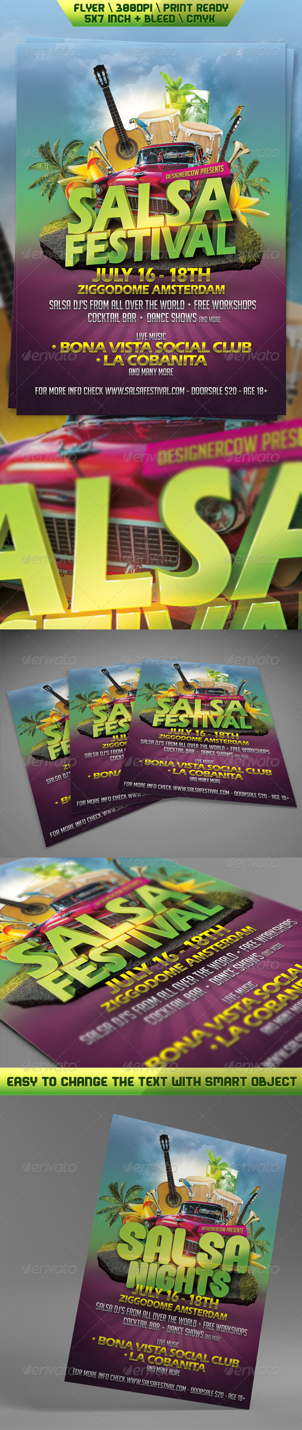 GraphicRiver Salsa Festival Flyer 5360489
