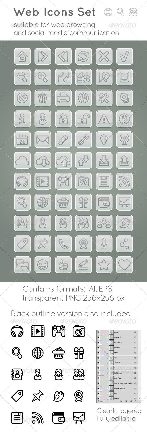 GraphicRiver Web Icons Set 5360662