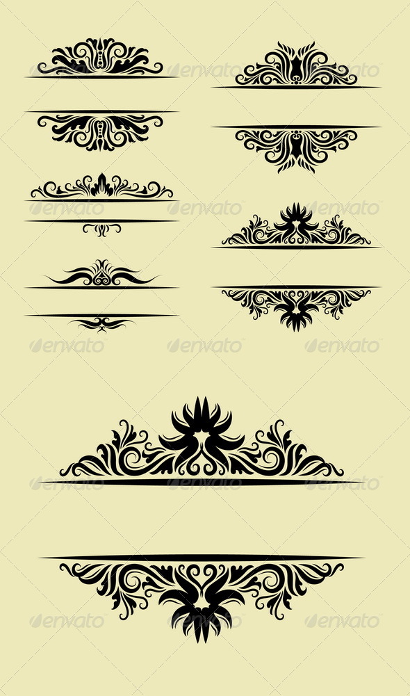 GraphicRiver Floral Ornament Decorations 5360827