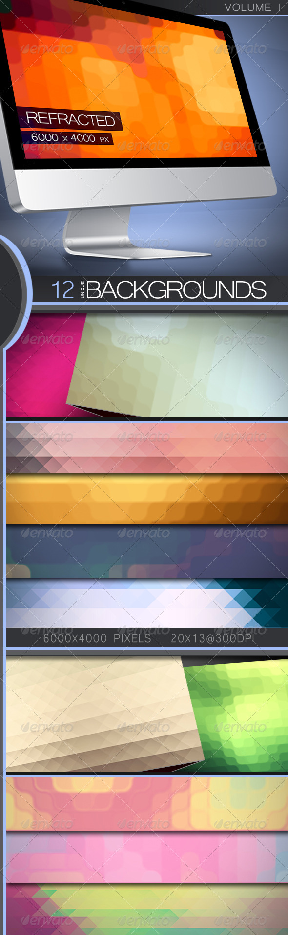 GraphicRiver Refracted Backgrounds Volume 1 5360889