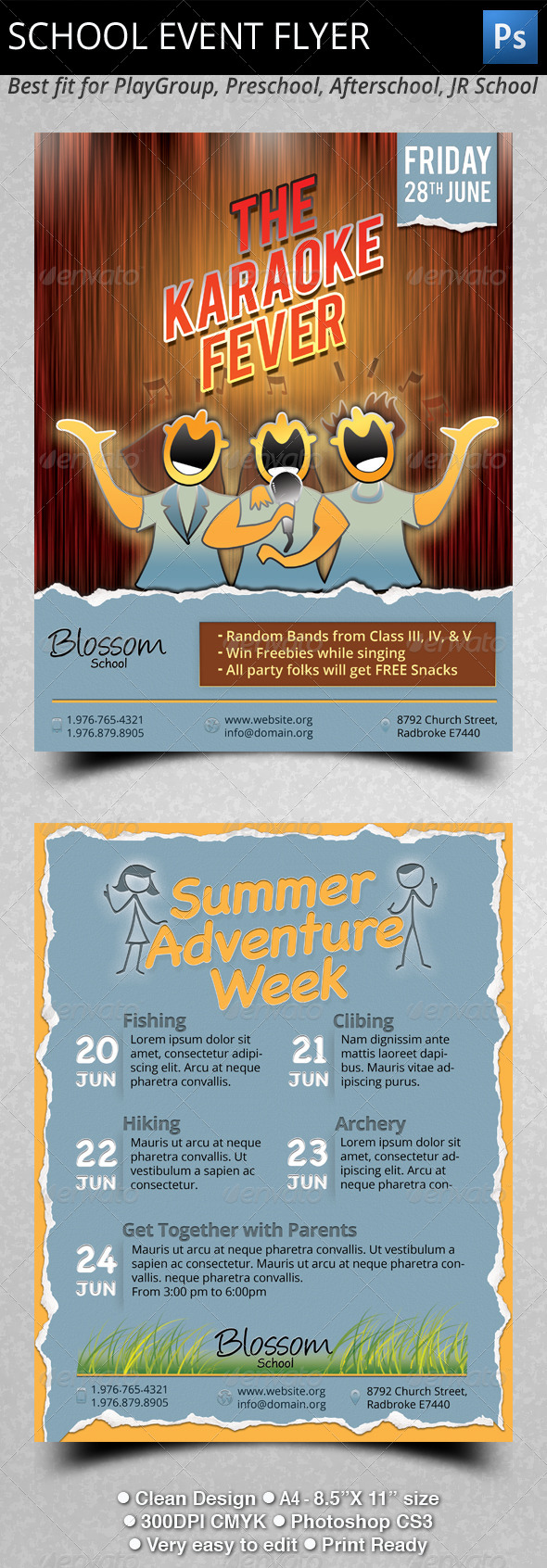 GraphicRiver School Event Flyers 5307872