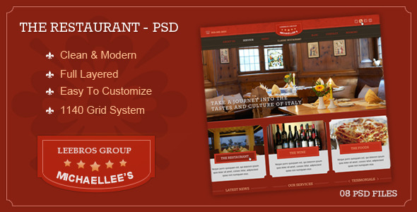 The Classic Restaurant - PSD