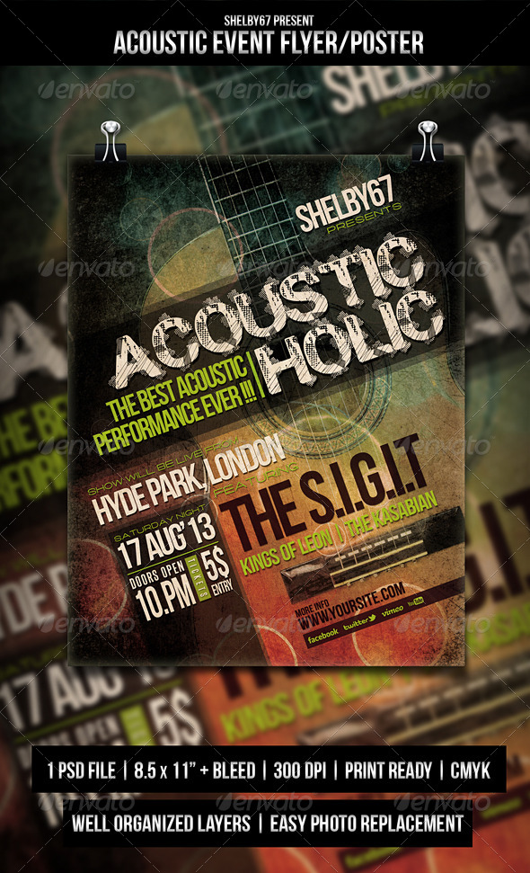 GraphicRiver Acoustic Event Flyer Poster 5245269