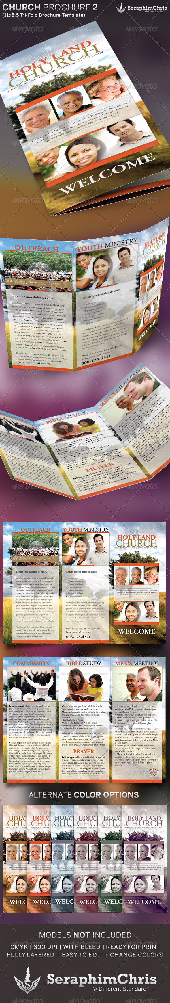 GraphicRiver Church Brochure Tri-Fold Template 2 5361242