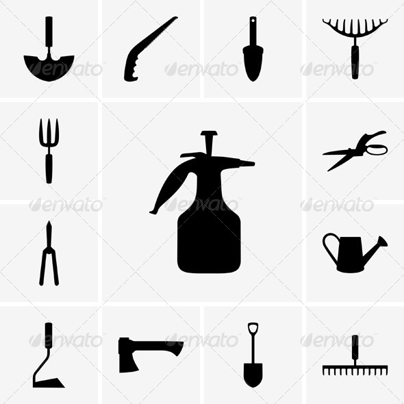 GraphicRiver Garden Tool Icons 5361293