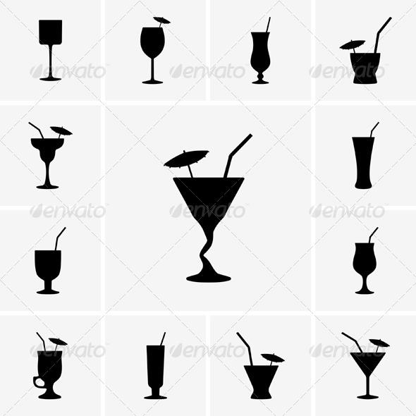 GraphicRiver Cocktail Icos 5361315
