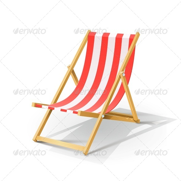 GraphicRiver Wooden Beach Chaise Longue 5361463