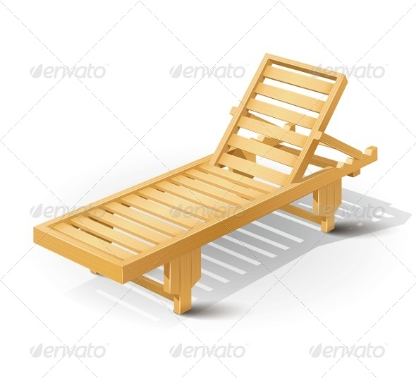 GraphicRiver Wooden Beach Bed 5361472
