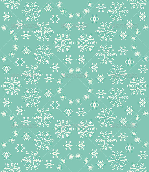 GraphicRiver Seamless Snowflakes Pattern 5361533