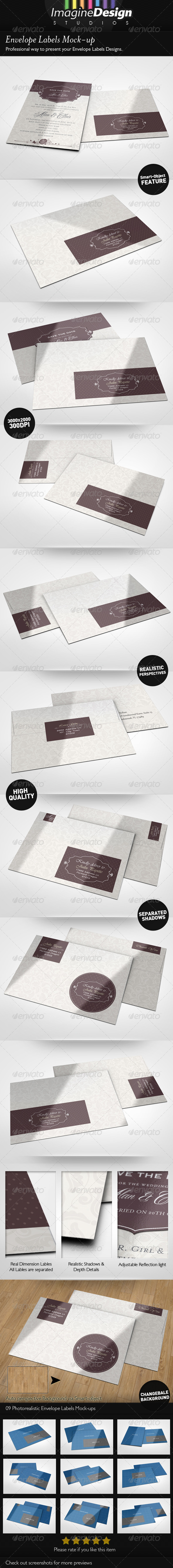 GraphicRiver Envelope Labels Mock-up 5361633