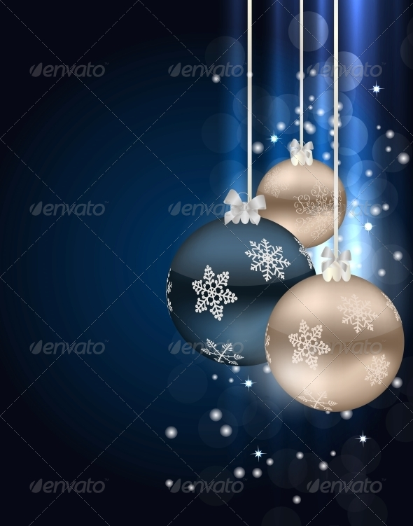 GraphicRiver Abstract Christmas and New Year Background 5361678