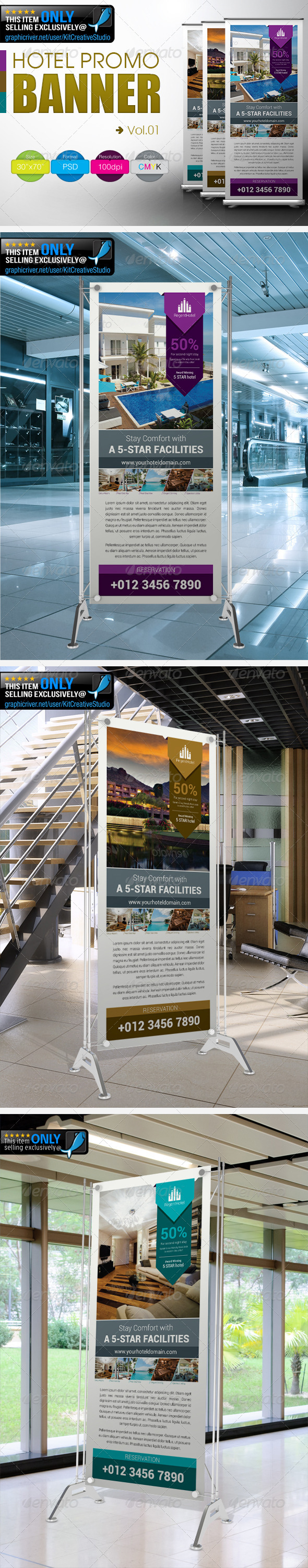 Hotel Promo Banner Vol.01 - Signage Print Templates