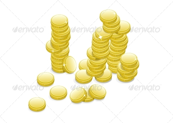 GraphicRiver Many Coins 5361812
