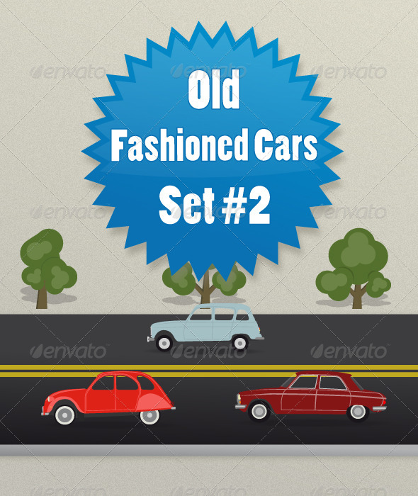 Old Fashioned Cars Set2