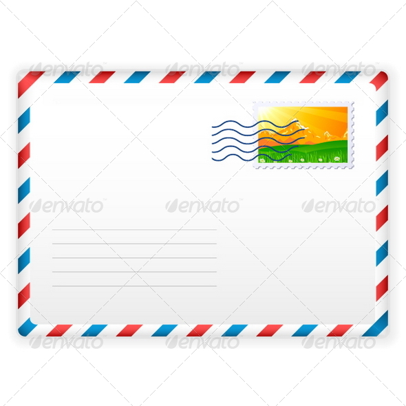 GraphicRiver Envelope and Postage Stamp 5362125
