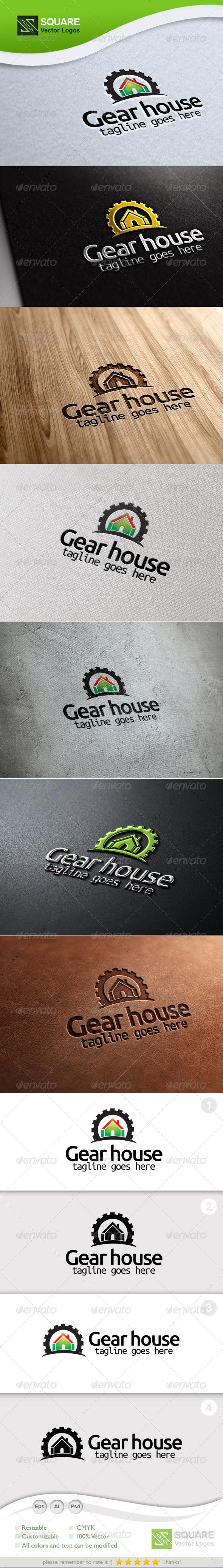 GraphicRiver Gear House Vector Logo Template 5362147