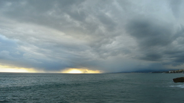 Storm Timelapse in the Sea