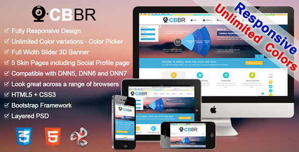 ThemeForest CBBR-Unlimited Colors Responsive DNN Skin 5362293