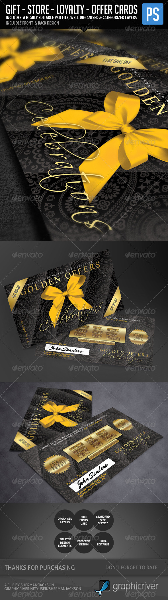 Gift Card, Store, Loyalty Card Template - Loyalty Cards Cards & Invites