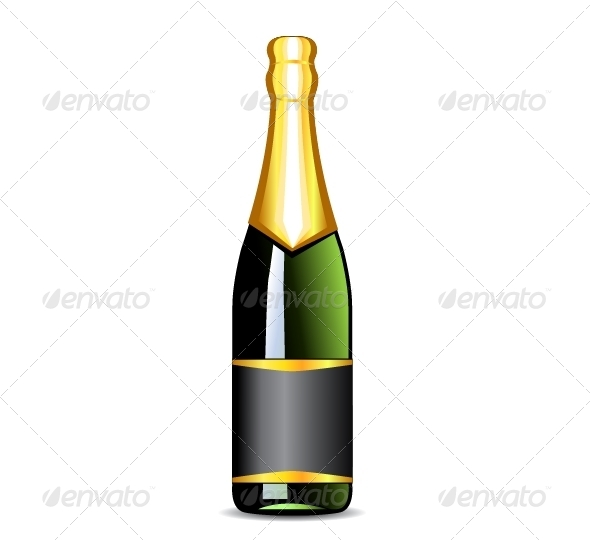 GraphicRiver Bottle of Champagne 5362424