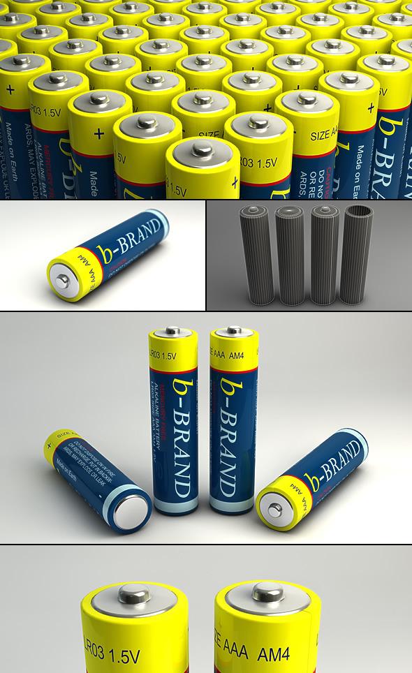 3DOcean AAA Battery 5362668