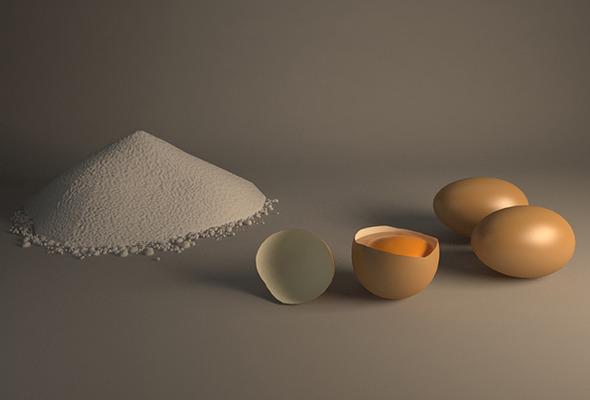 3DOcean Egg and Flour Scene 5362798