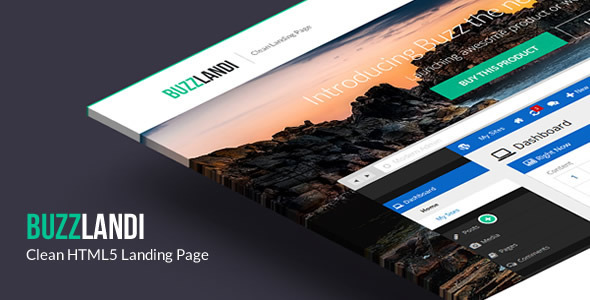 ThemeForest BuzzLandi Clean HTML5 Landing Page 5362800
