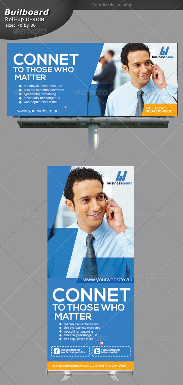 GraphicRiver Mobile Communication Billboard and Roll up 5362988