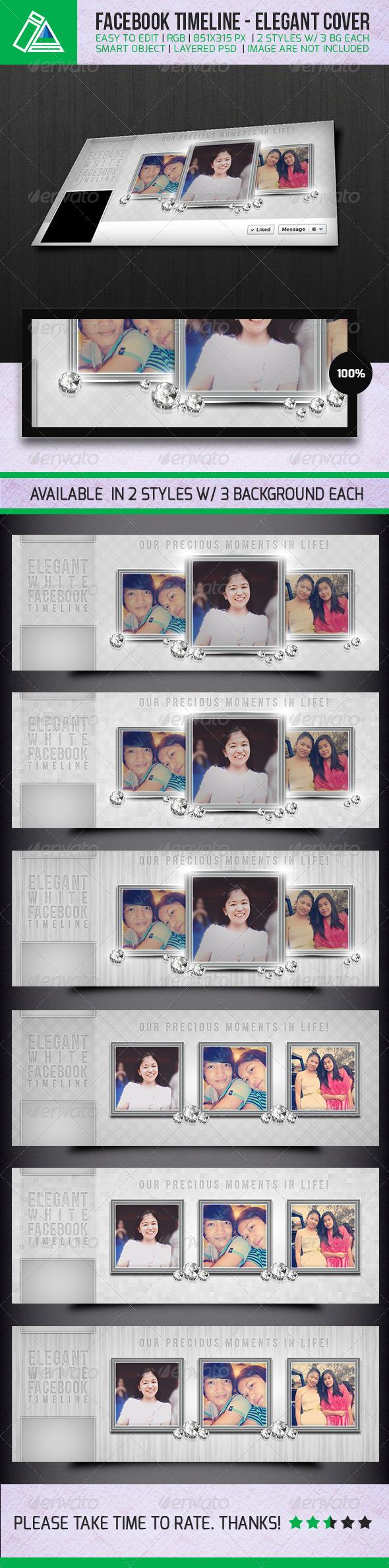 Elegant White - Facebook Timeline Cover - Facebook Timeline Covers Social Media