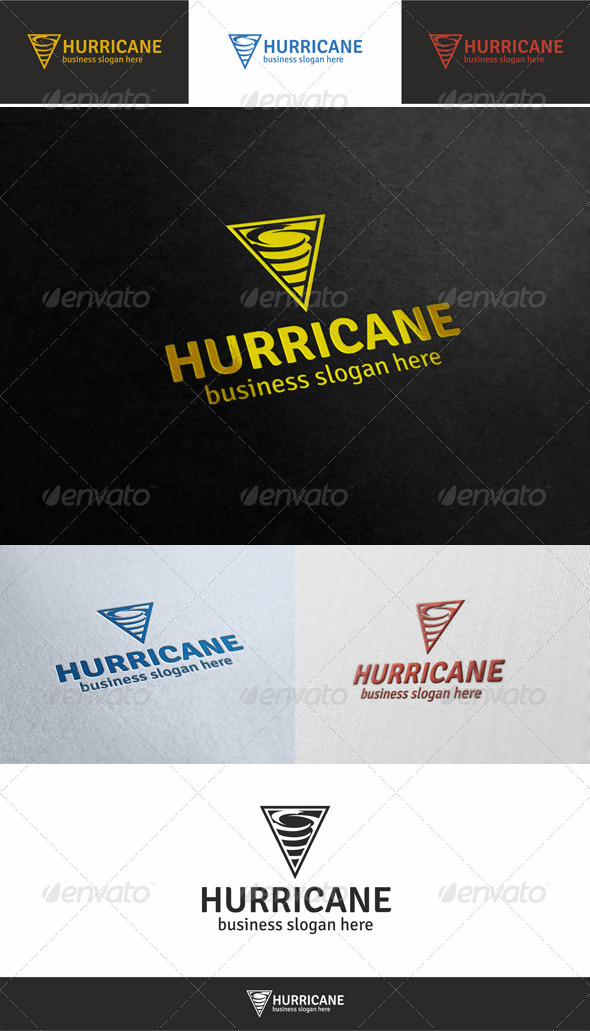 GraphicRiver Hurricane Logo Template 5363033