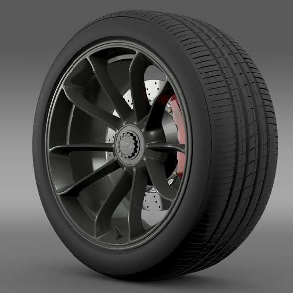 3DOcean Porsche 911 GT3 2014 wheel 5363034