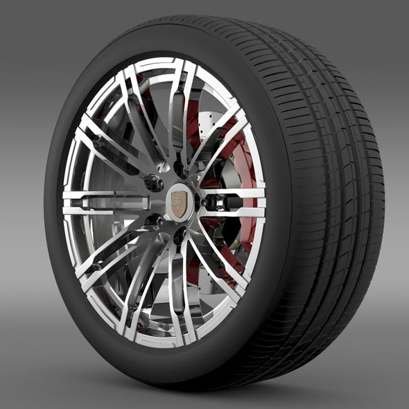 3DOcean Porsche 911 Turbo 2013 wheel 5363073