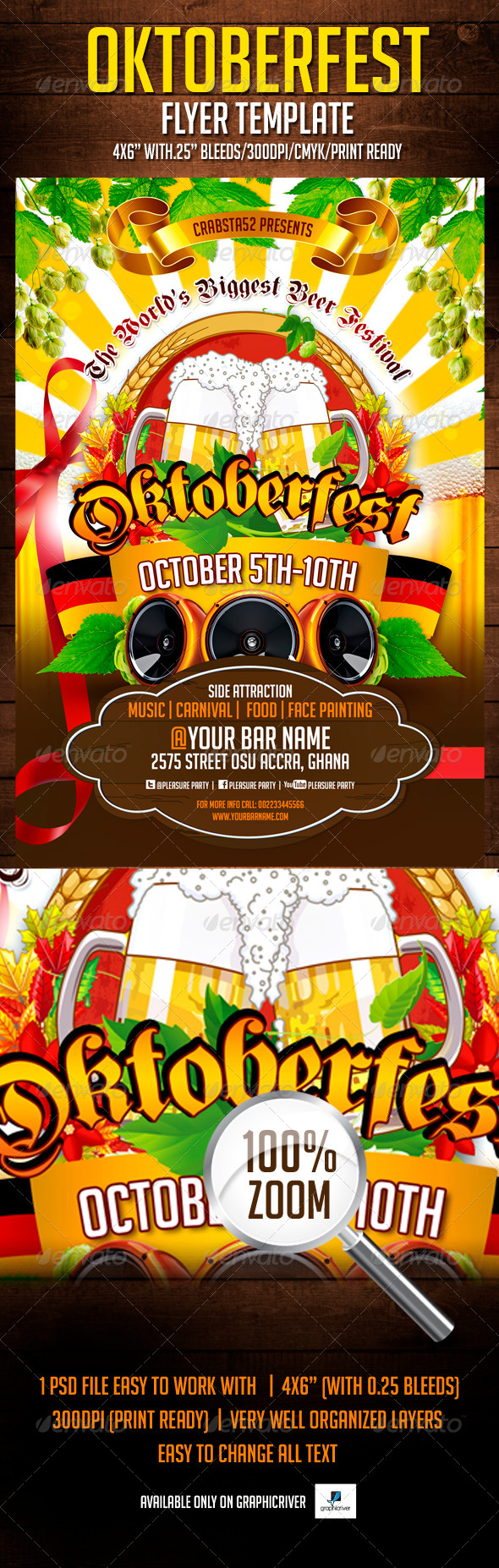 GraphicRiver Oktoberfest Flyer Template 5363078