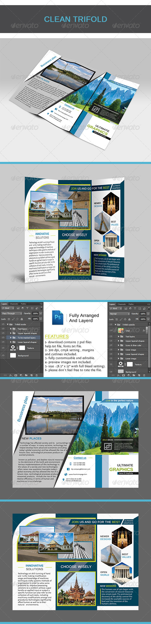 GraphicRiver Clean Trifold 5323605