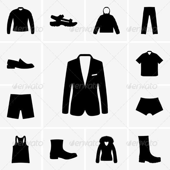 GraphicRiver Man Clothers Icons 5363229