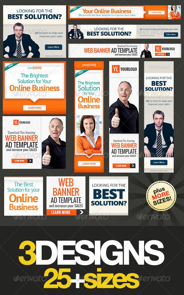 GraphicRiver Corporate Web Banner Set Bundle 7.0 5364596