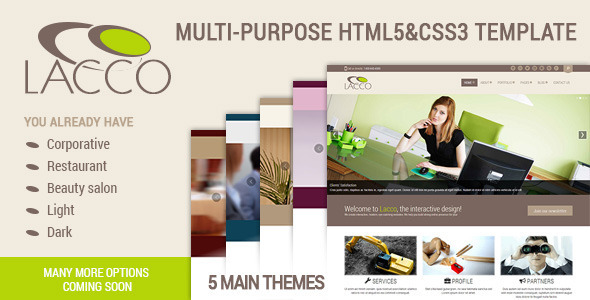 ThemeForest LACCO Multi-Purpose Template 5364875