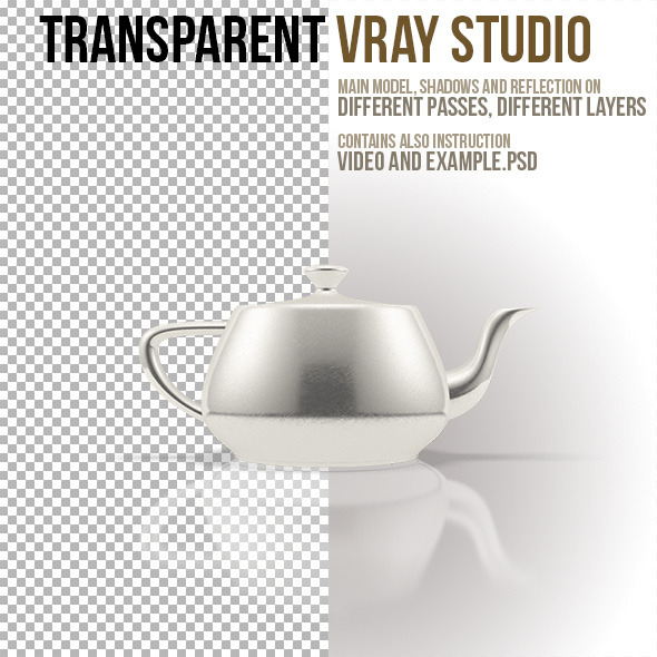 3DOcean Transparent VRay Studio 5365249