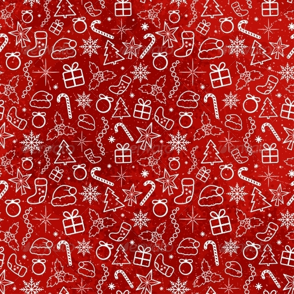 GraphicRiver Red Christmas Seamless Pattern 5365467