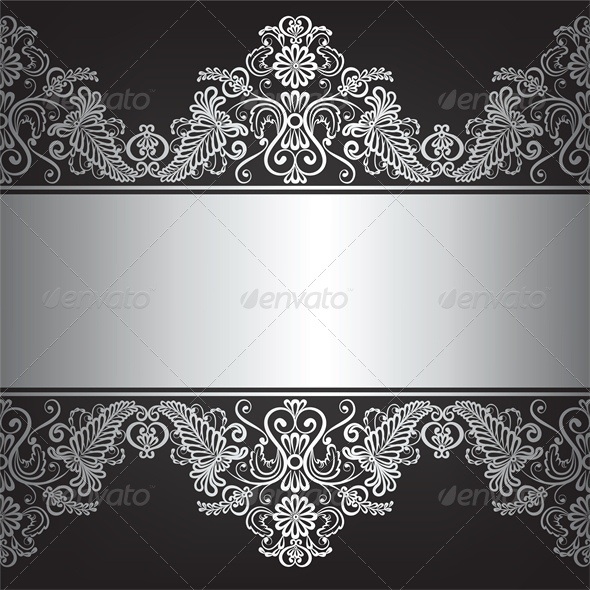 GraphicRiver Background with Silver Jewelry Frame 5365506